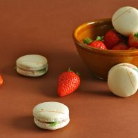 Strawberry Basil Macarons