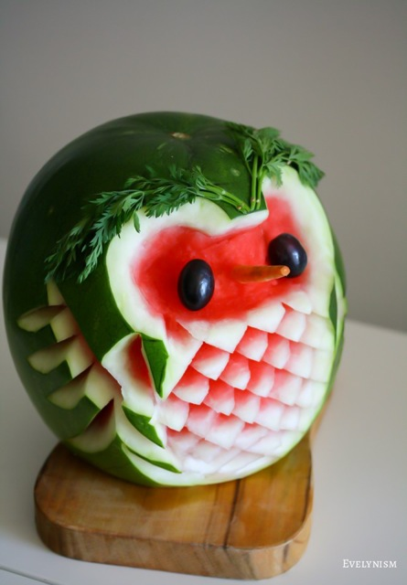 raoul the owl watermelon 100 days of evelyn