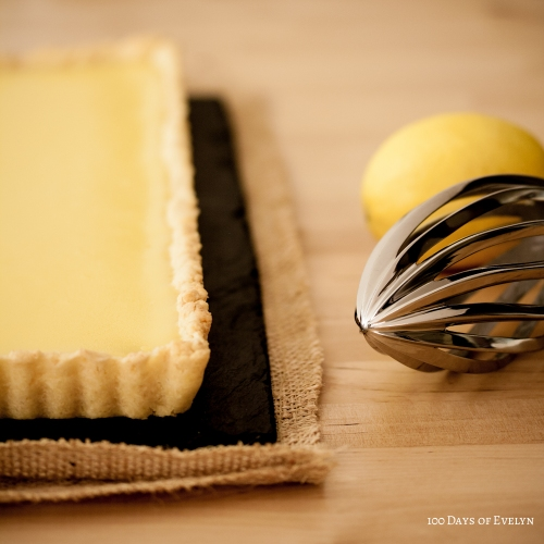 Rectangular lemon tart