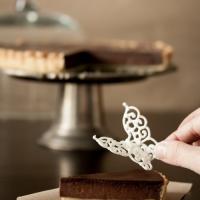 Butterfly Chocolate Tart
