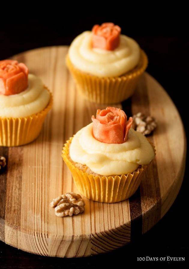 Carrot Rose Cupcakes 2