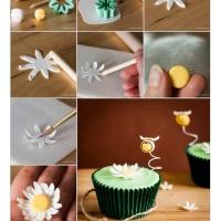 How To: Make Fondant Daisy Flower